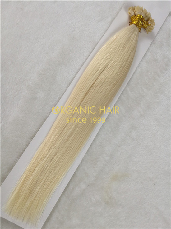 Wholesale remy flat tip hair extension #60A X17