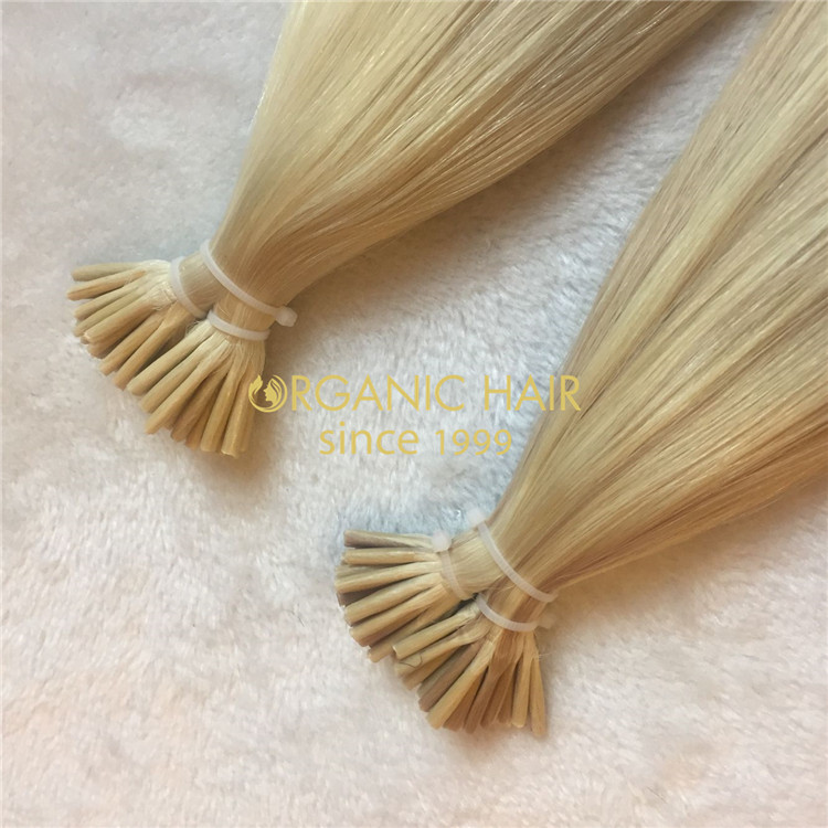 Good remy human hair extensions i tip piano color H123