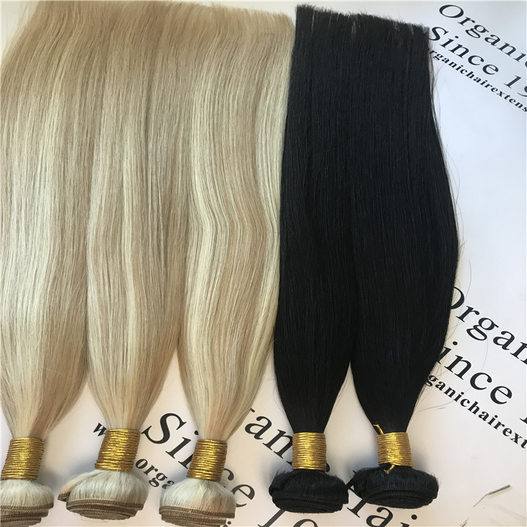 piano color machine hair weft #8/613 H65