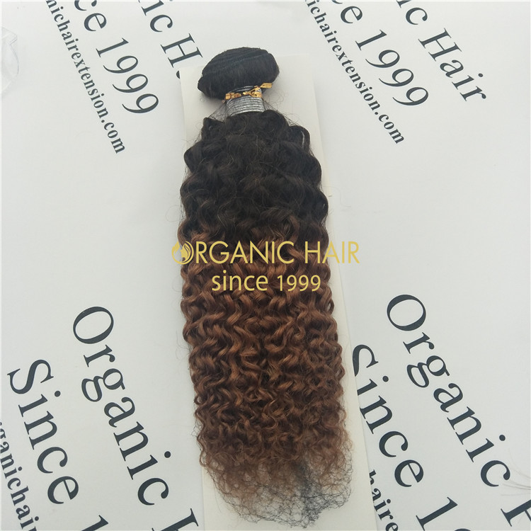 Ombre color hair bundles 14inch T1b/30 GT57