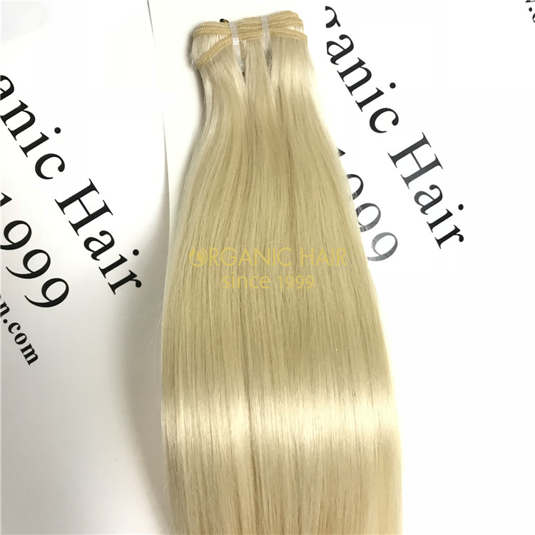 Human remy hair weft extensions wholesale #101 color X68