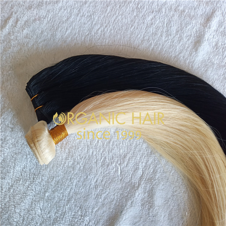 Premium Cuticle intact hair weft extensions  H174