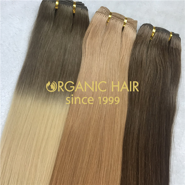 Ombre full cuticle human hair for sale H138