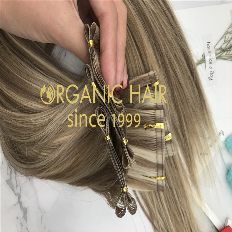 Ribbon weft hair extensions-piano color  H270