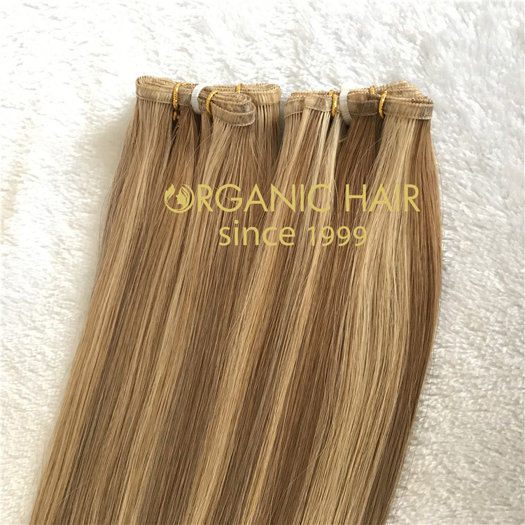 Wholesale popular uk flat weft hair extensions 2021 V34