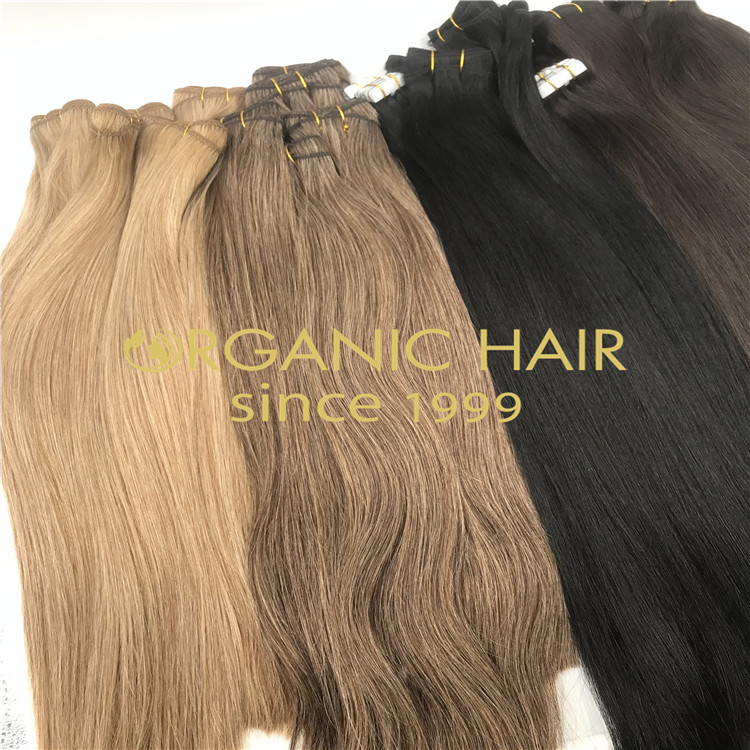 Cuticle in tact mixed hair weft extensions H268
