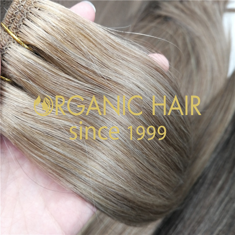 Mixed piano color hair wefts with Russian Mogolian hair  RB67