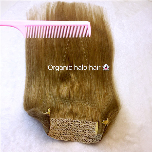Remy Hair Double Drawn Halo For Hair Flip In Hair Extensions China