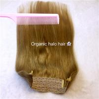 Remy hair double drawn halo for hair flip in hair extensions