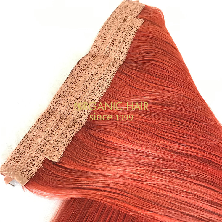 Human #130 color halo hair extensions on sale X164