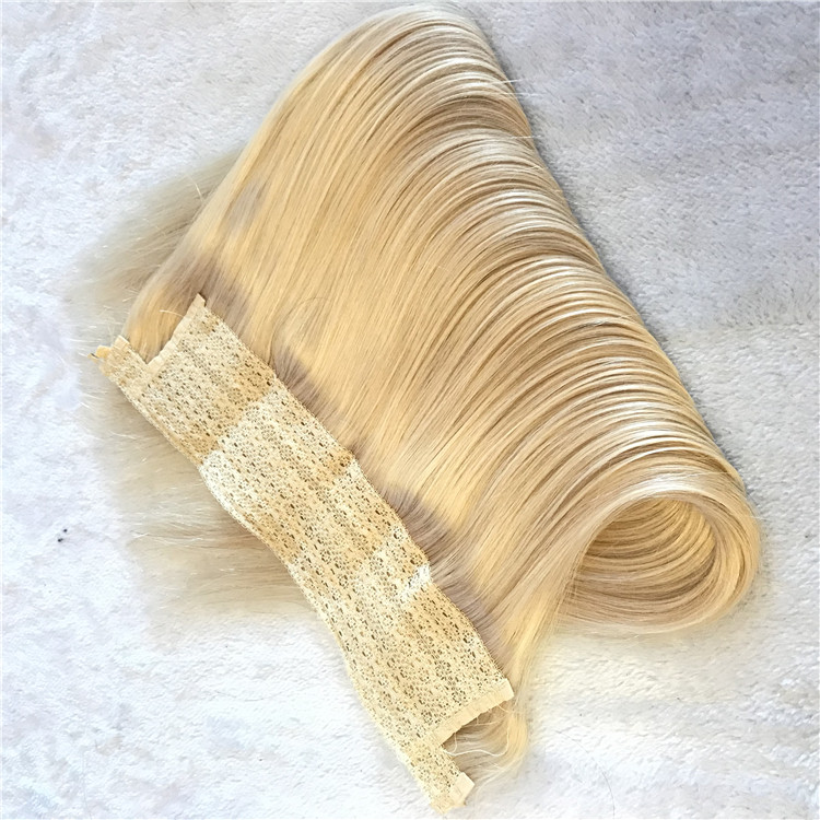 Top quality product Full cuticle hair extensions:blonde #60 halo hair H60