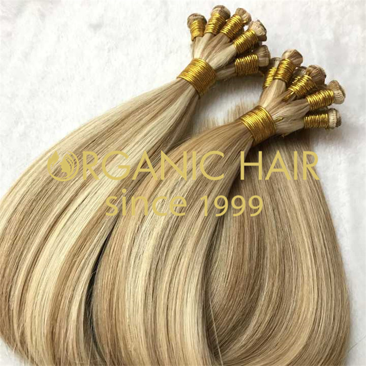 Piano color Hand tied weft,flat and thin knot H102