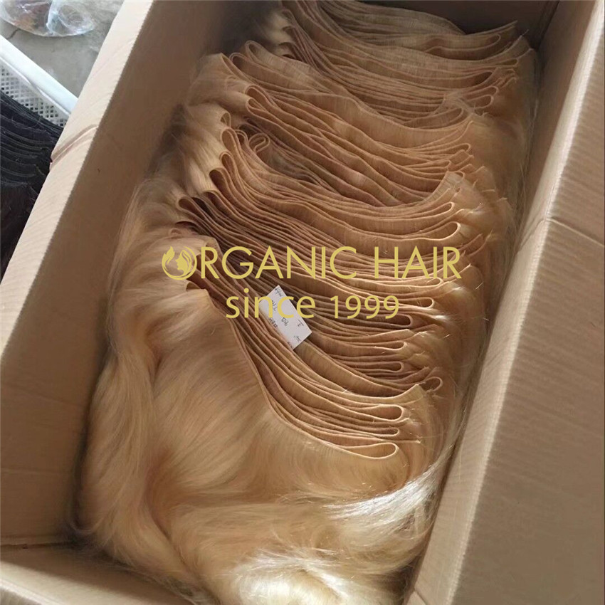 Wholesale hair bulk hand tied wefts with best qulaity,affordable price A213