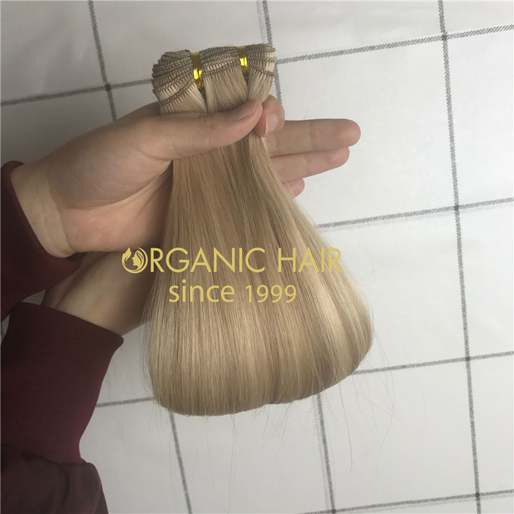 Customzied 18inch P18/22 hand tied wefts refer to clients color ring A194