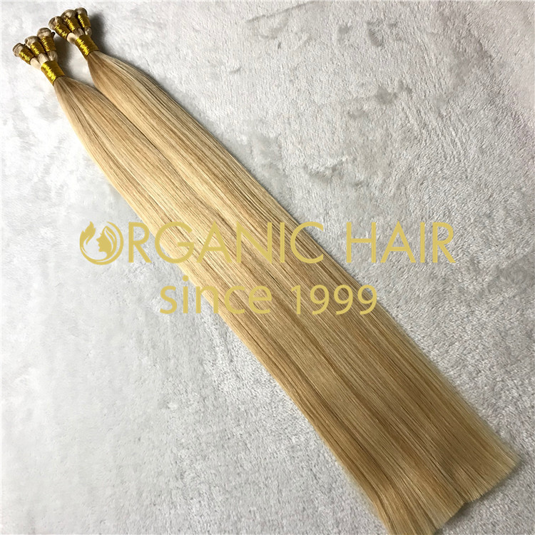 Double drawn remy hair hand tied hair extensions H141
