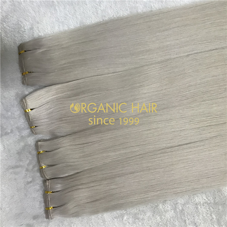 Full cuticle hand tied hair extensions in stock H137