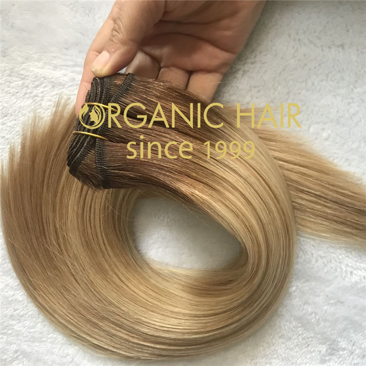 High quality rooted color hand tied weft I21