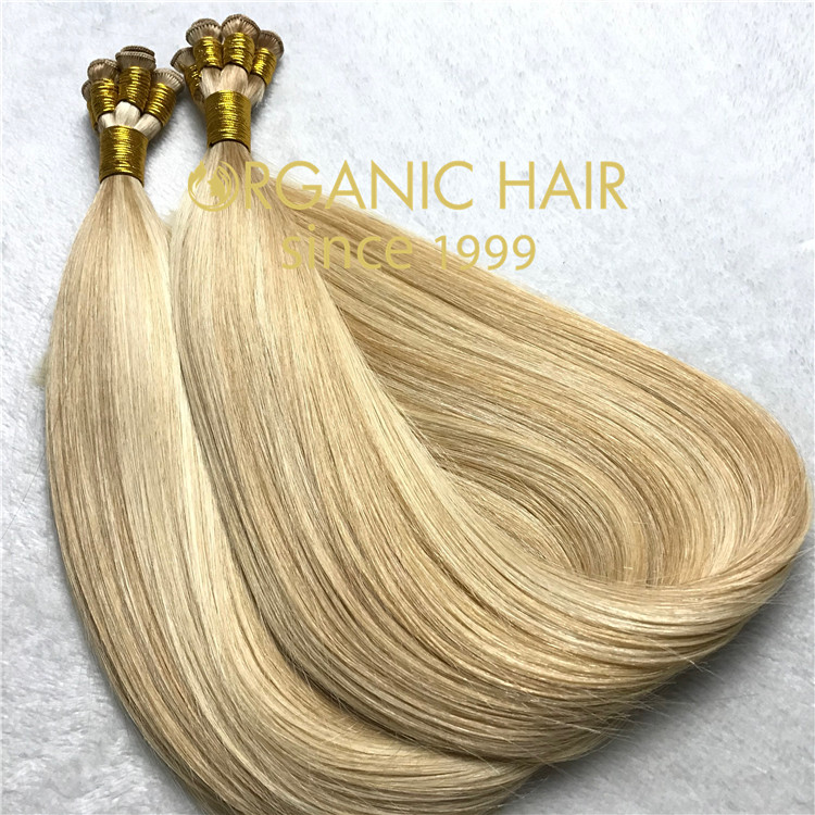 Best remy human hair extensions--hand tied weft  C94