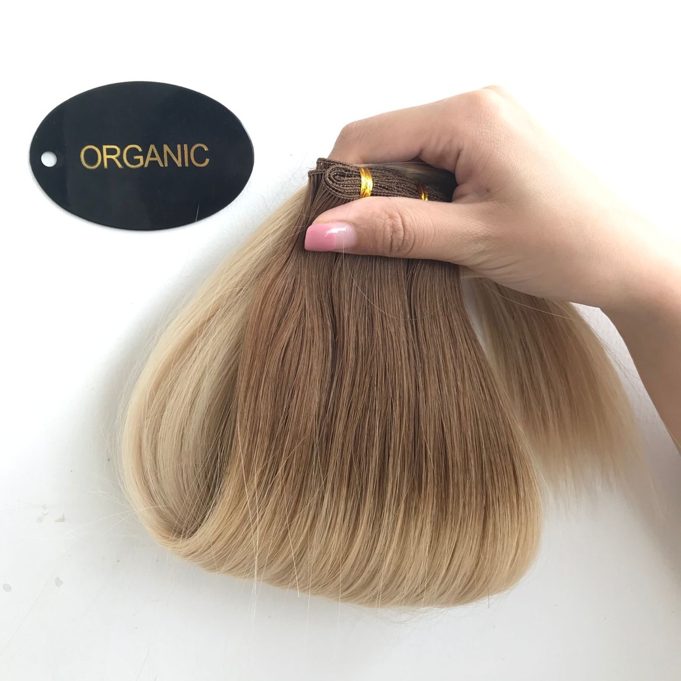 Full cuticle ombre color handtied weft 6/27  C93