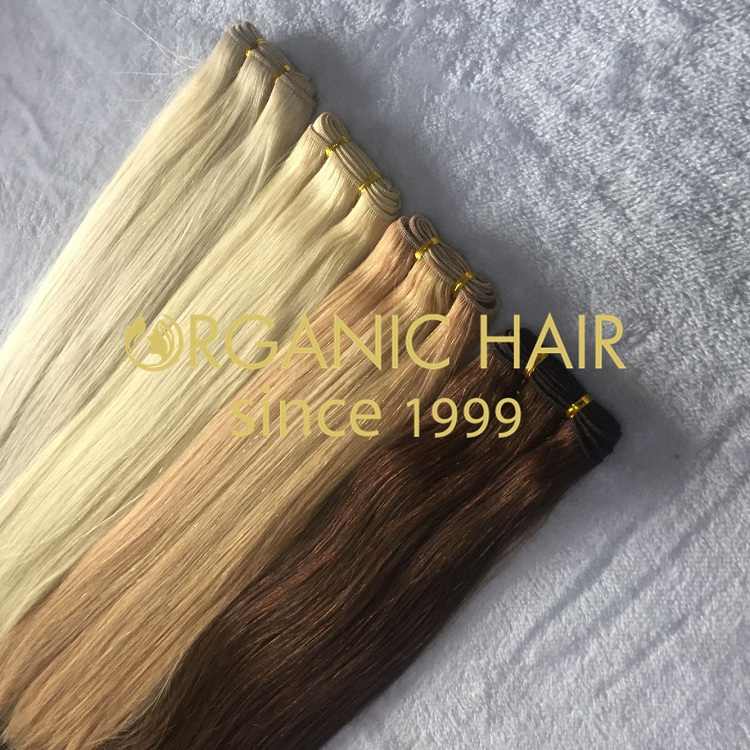 Hand tied weft hair extension 100% virgin human hair with best quality I5