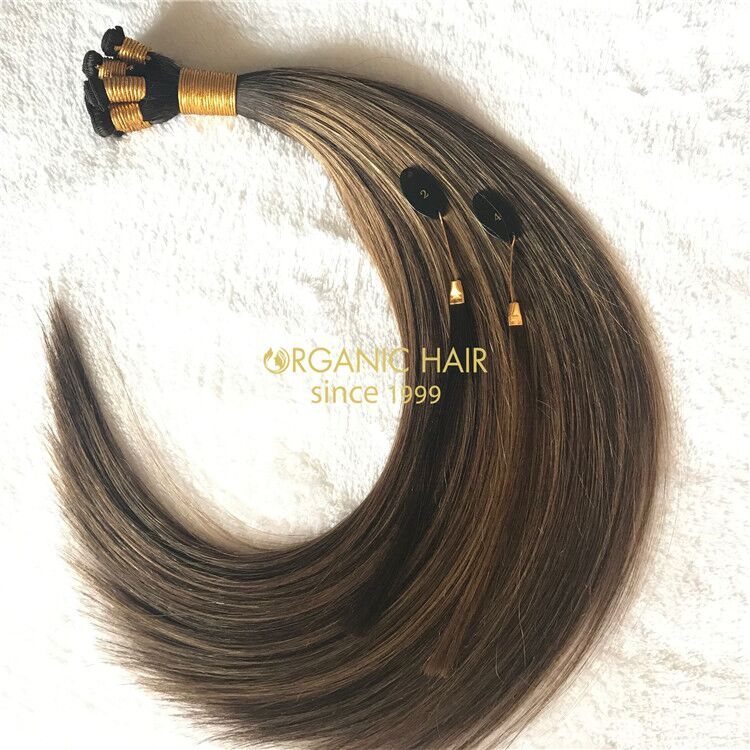 Popular hair extensions hand tied wefts X218