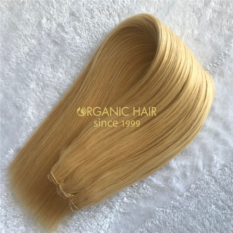 Human full cuticle hand tied weft hair on sale X165