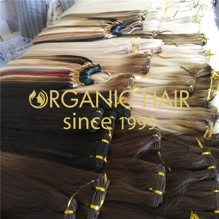 Hand tied hair extension wholesale H192