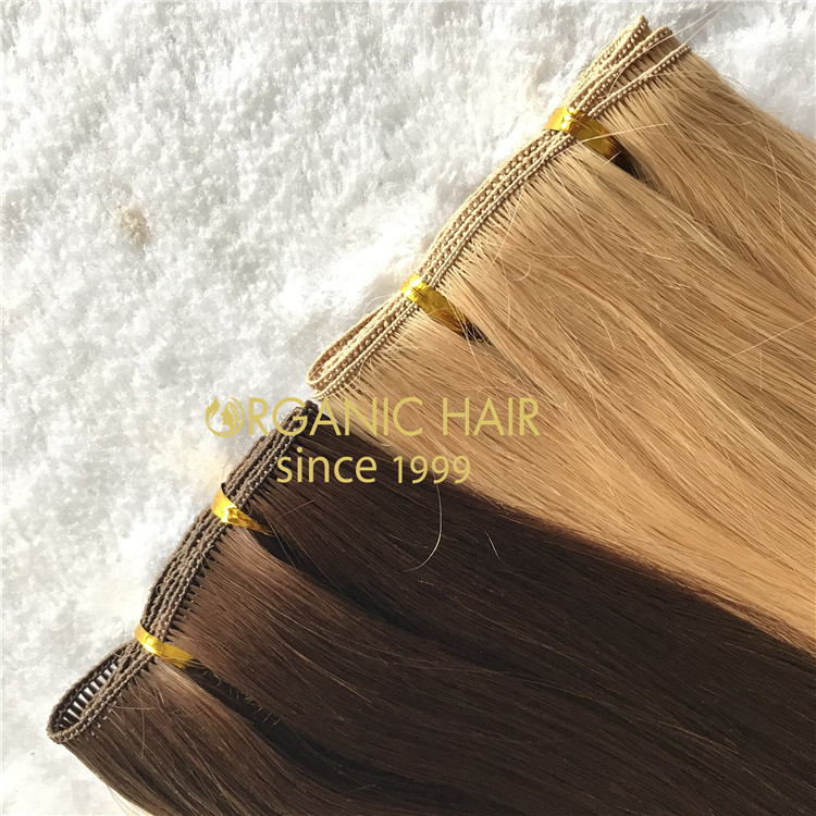 Stock best quality double drawn hand tied wefts A182