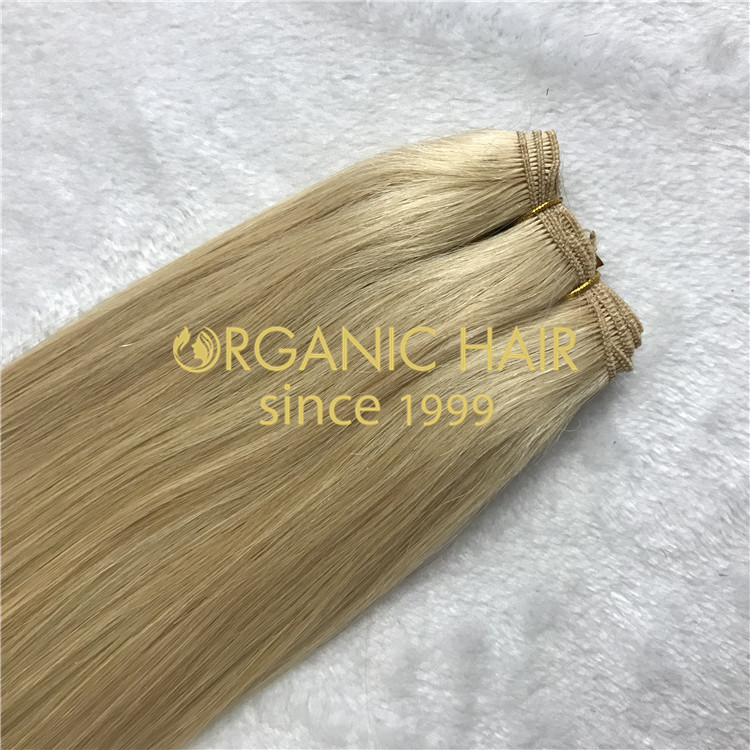 Customized hand tied hair extensions H115