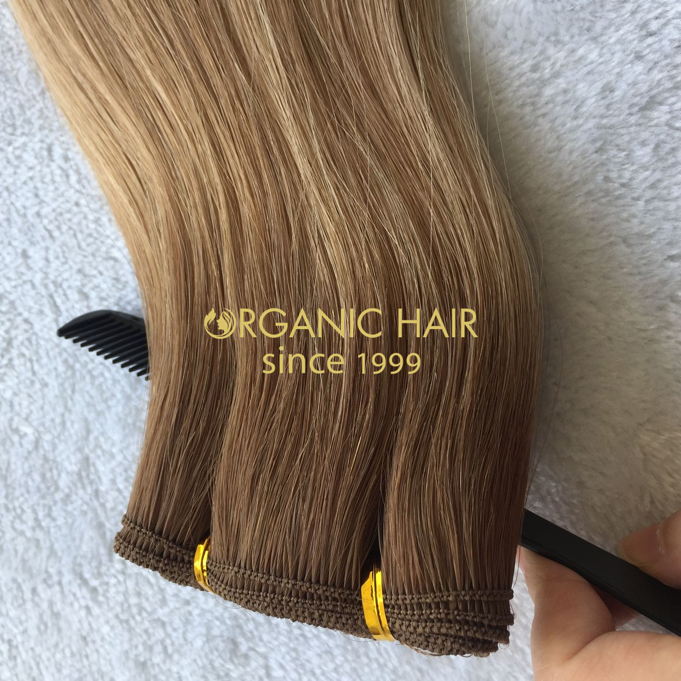 Cuticle intact hand tied wefts supplier H229