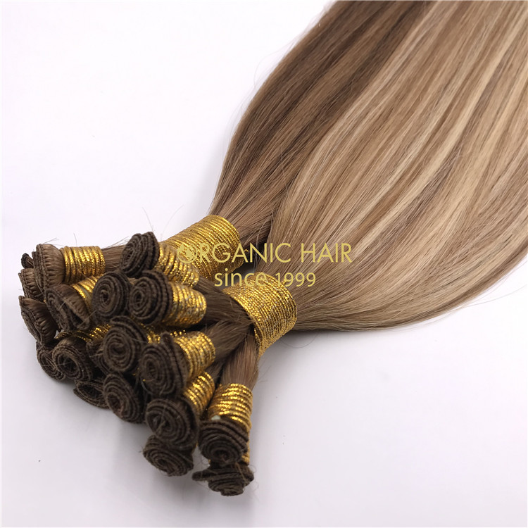 Mixed color Hand tied-hair extensions  H297