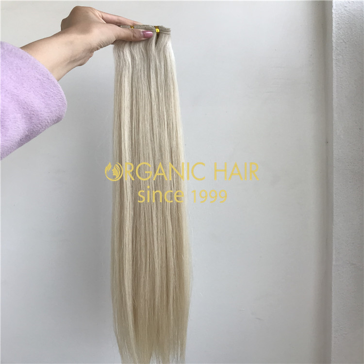 Blonde beaded weft extension manufacturer  H272