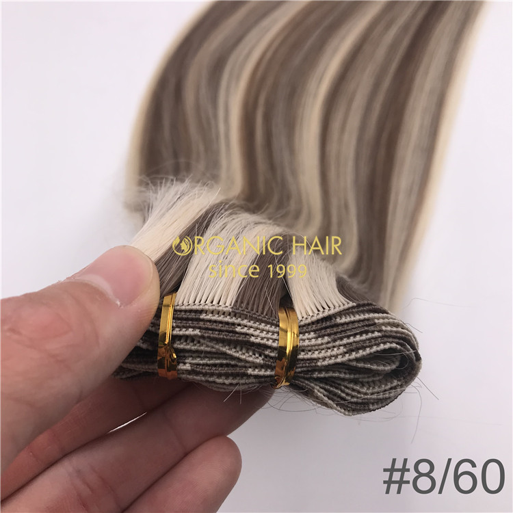 Piano color Hand tied-hair extensions  H296