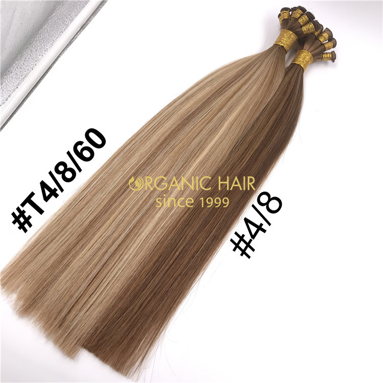 Mixed color Hand tied-hair extension on sale H293