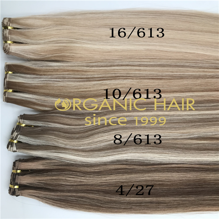 Wholesale high quality ashy piano color handtied weft extension H319