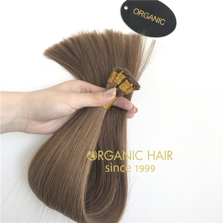 Full cuticle Mongolian Russian hair extension manufavtures RB81