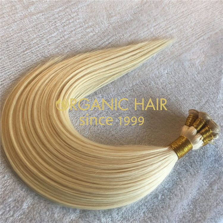 Wholesale remy hair hand-tied weft V65