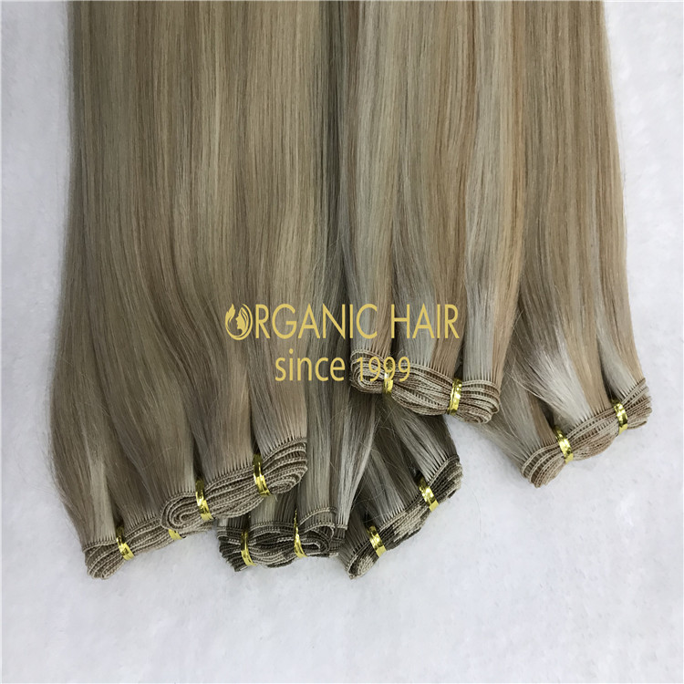 Cuticle intact hand-tied extensions wholesale H327