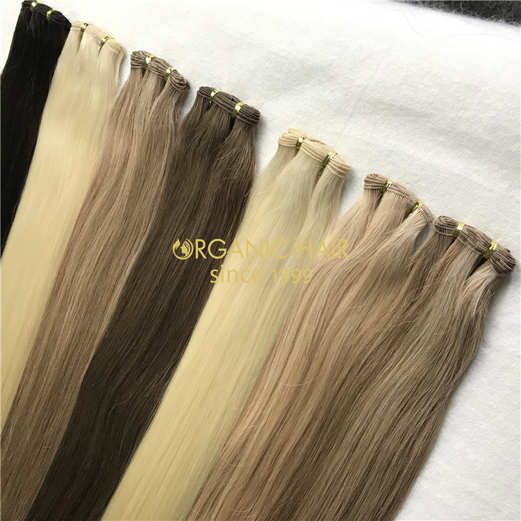 Wholesale human hand sewn wefts and good reviews X317