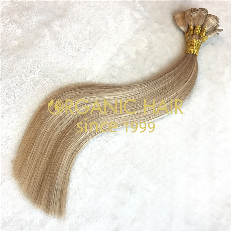 2021 remy hair hand tied weft wholesale A06