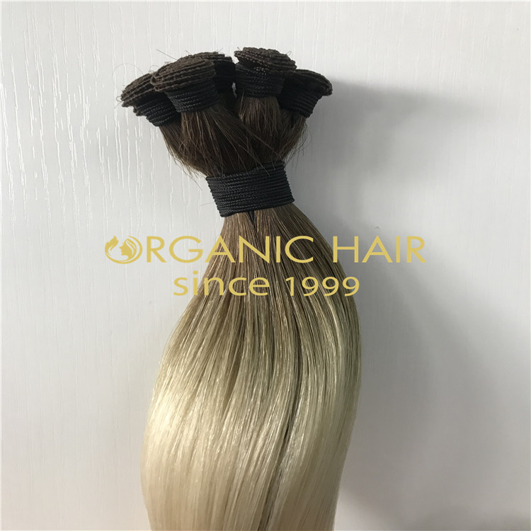 Cuticle intact ombre European hand-tied wefts wholesale H326