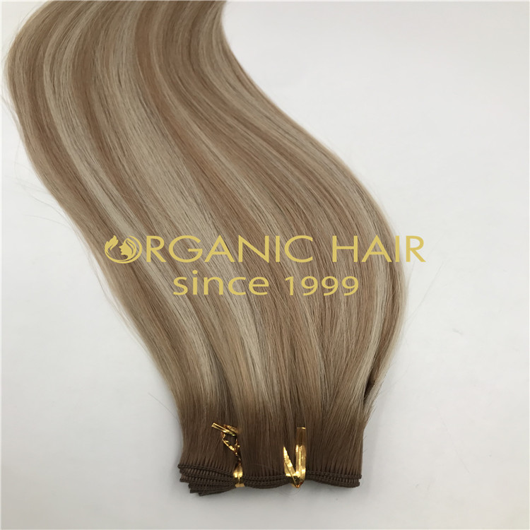 Full cuticle remi hand-tied wefts wholesale H325