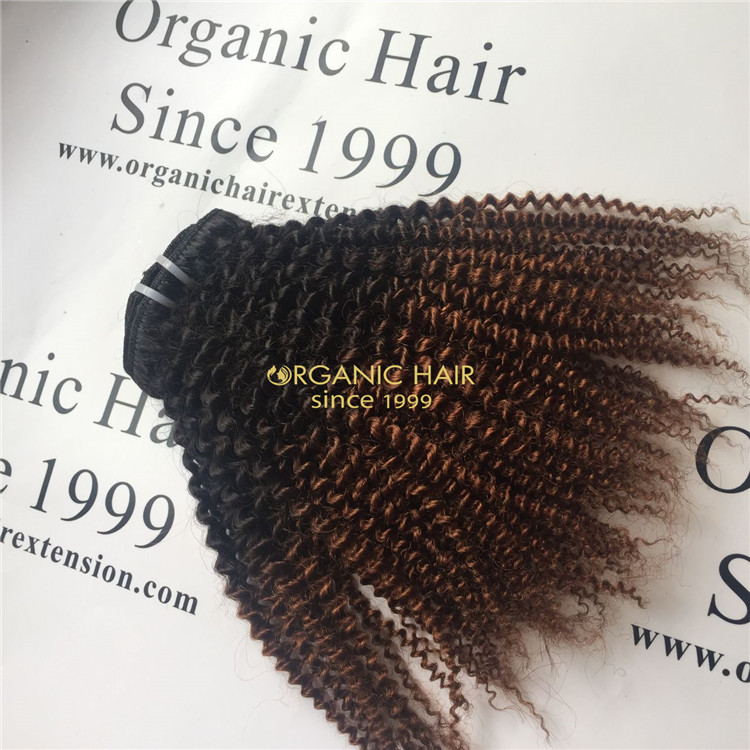 High Grade Unprocessed 1B/27 color remy Hair Weft For Black women A105