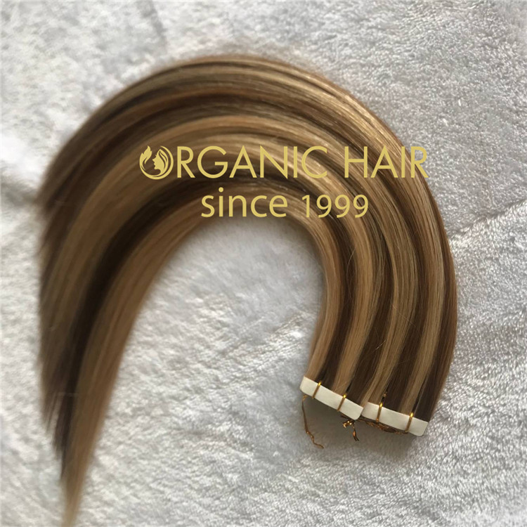 Piano color tape in hair extensions with high quality C82