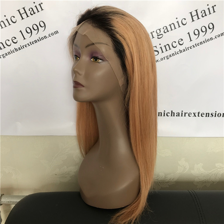 Hot sale!1b 27# straight full lace wig,glam and attractive A14