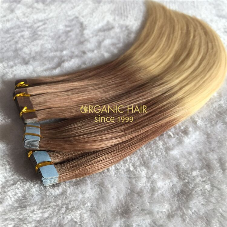 Human tape in hair rooted color and piano color,long last X189