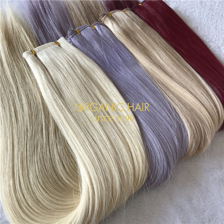 Customized human full cuticle flat weft on sale X174