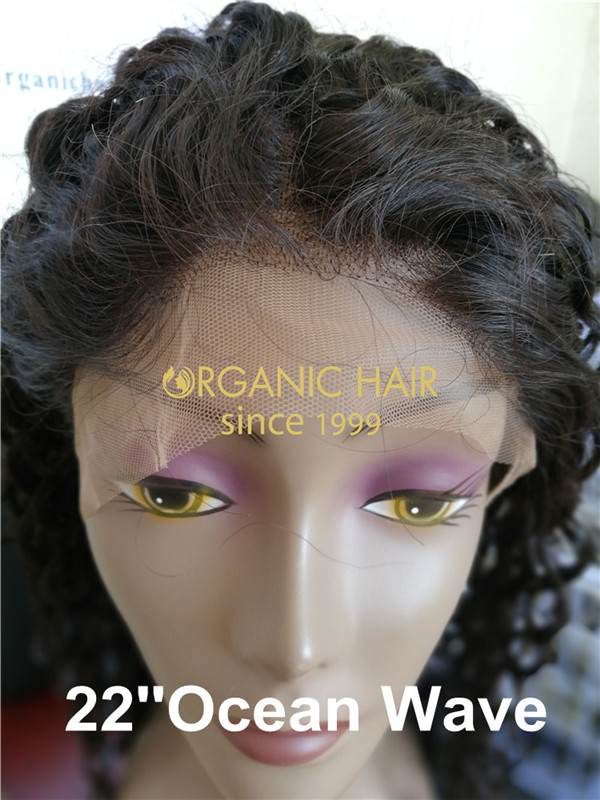 Wholesale cheap full lace wig human hair with baby hair Ocean wave X35
