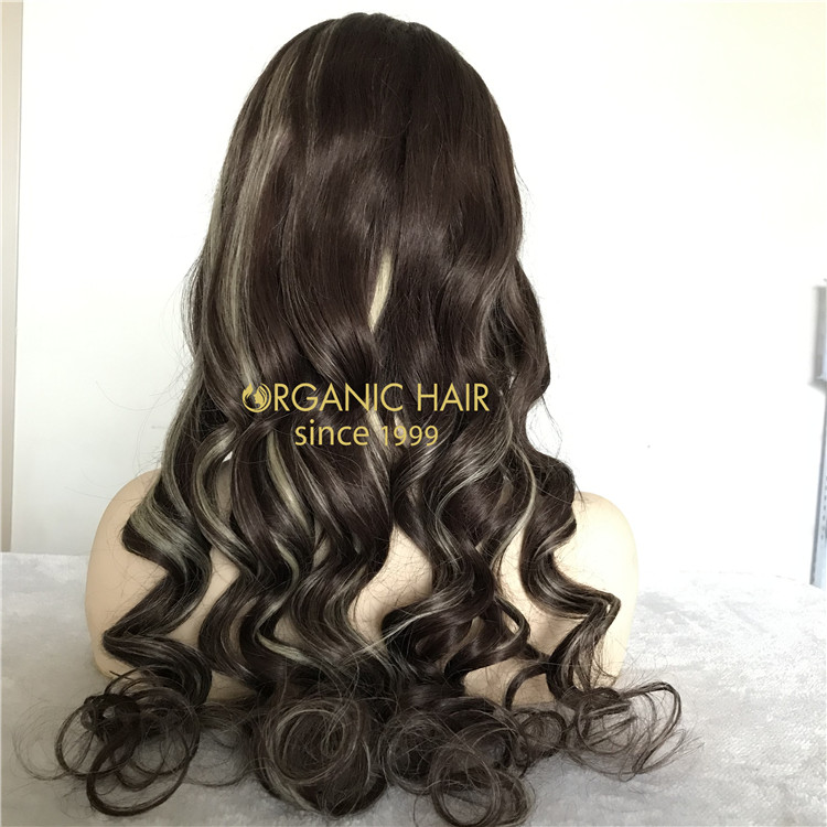 Human piano color full lace wigs beautiful and cheap X142