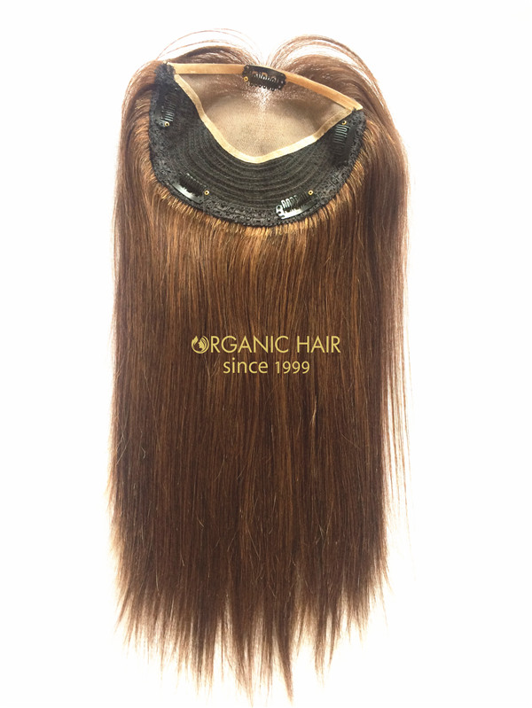 Hair Toppers Human Hair Clip On Wigs Mono Hair Pieces China Oem